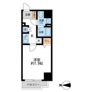 1K Mansion in Kotobashi - Sumida-ku Floorplan