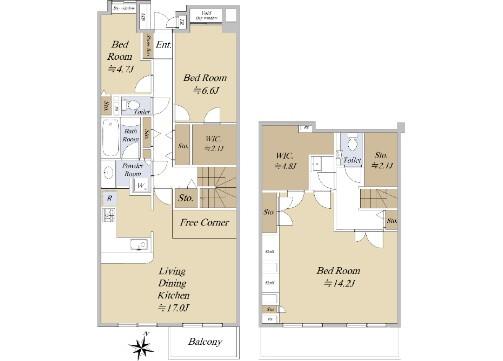 在世田谷區購買3SLDK 公寓大廈的房產 房間格局