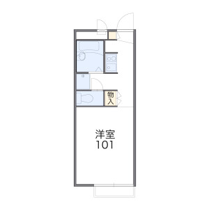 1K Apartment in Tamacho - Fuchu-shi Floorplan