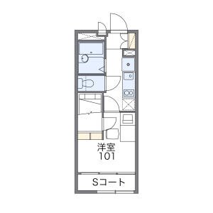 1K Apartment in Sekimachihigashi - Nerima-ku Floorplan