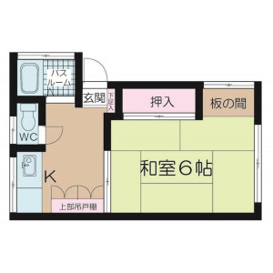 1K Apartment in Kitashinjuku - Shinjuku-ku Floorplan