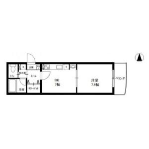 1DK Mansion in Motoasakusa - Taito-ku Floorplan