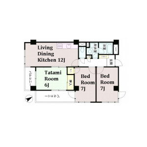3LDK Mansion in Arai - Nakano-ku Floorplan