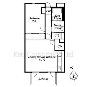 1LDK Mansion in Kugayama - Suginami-ku Floorplan