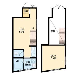 1LDK Apartment in Tsukudohachimancho - Shinjuku-ku Floorplan