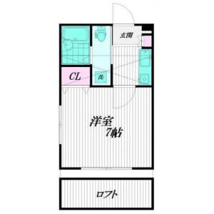 1K Apartment in Shinoharahigashi - Yokohama-shi Kohoku-ku Floorplan