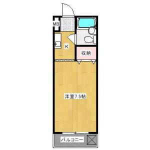 1K Apartment in Katahira - Kawasaki-shi Asao-ku Floorplan