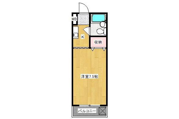 1K Apartment to Rent in Kawasaki-shi Asao-ku Floorplan