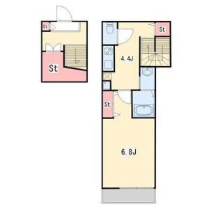 澀谷區西原-1K公寓 房間格局
