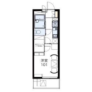 1K Apartment in Kuzuhara - Fujisawa-shi Floorplan