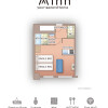 1K Serviced Apartment to Rent in Osaka-shi Naniwa-ku Floorplan