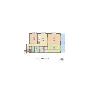3DK Apartment in Chikko - Osaka-shi Minato-ku Floorplan