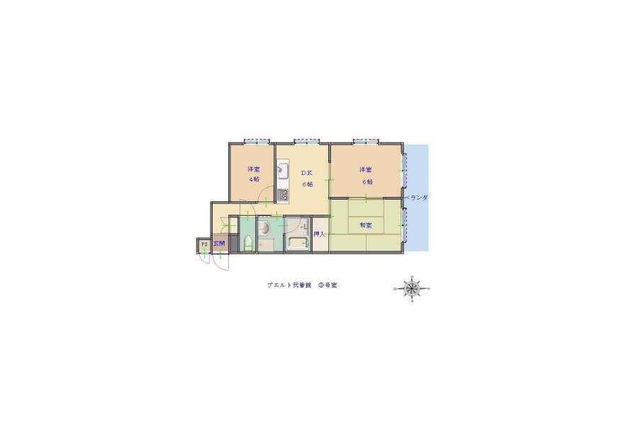 3DK Apartment to Rent in Osaka-shi Minato-ku Floorplan