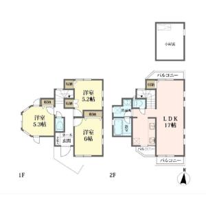3LDK {building type} in Naritanishi - Suginami-ku Floorplan