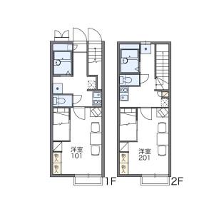1K Apartment in Midoricho - Akishima-shi Floorplan