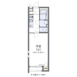 1K Apartment in Chuo - Edogawa-ku Floorplan