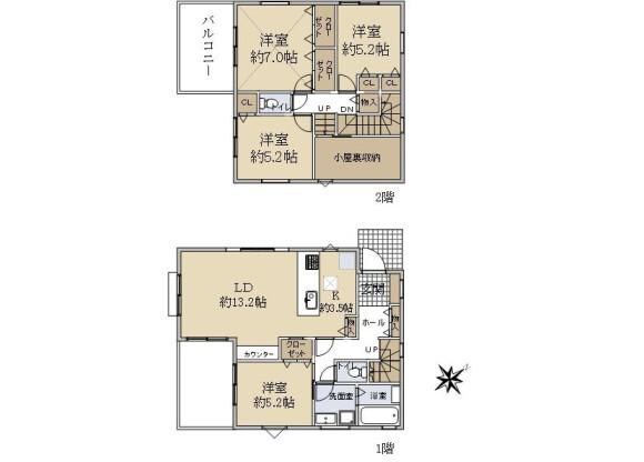 4LDK House to Buy in Yokohama-shi Asahi-ku Floorplan