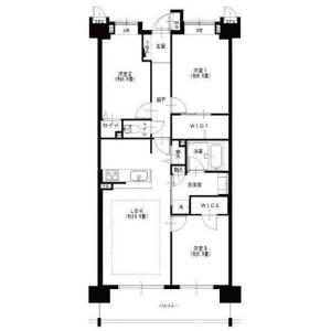 3LDK Apartment in Ikegami - Ota-ku Floorplan