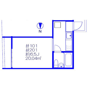 1K Apartment in Shimura - Itabashi-ku Floorplan