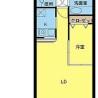 在杉並区内租赁1LDK 公寓大厦 的 楼层布局