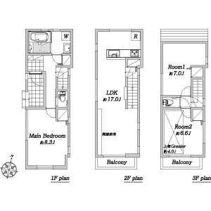 3LDK Apartment in Megurohoncho - Meguro-ku Floorplan