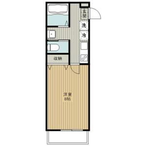1K Apartment in Kamiochiai - Saitama-shi Chuo-ku Floorplan