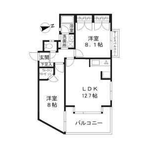 川崎市高津區下作延-2LDK公寓大廈 房間格局