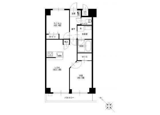 在横濱市鶴見區購買1SLDK 公寓大廈的房產 房間格局