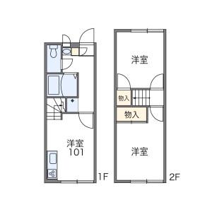 2DK Apartment in Nishibori - Niiza-shi Floorplan