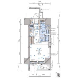 豊島區南大塚-1K{building type} 房間格局