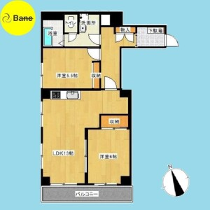 2LDK {building type} in Toyotamakita - Nerima-ku Floorplan