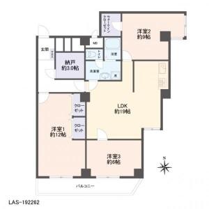 3LDK Apartment in Imagawa - Suginami-ku Floorplan