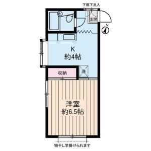 1K Apartment in Takaidohigashi - Suginami-ku Floorplan