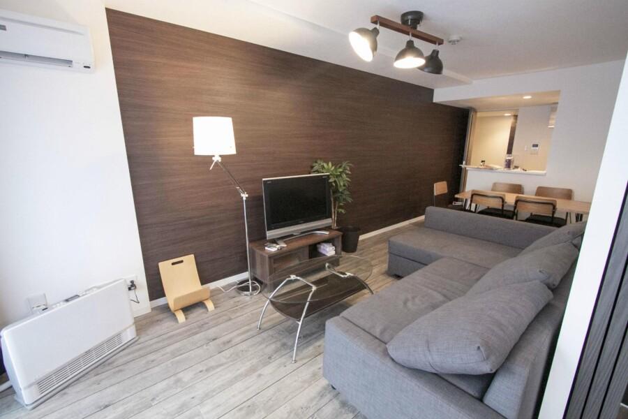 2LDK Apartment to Rent in Sapporo-shi Kita-ku Living Room