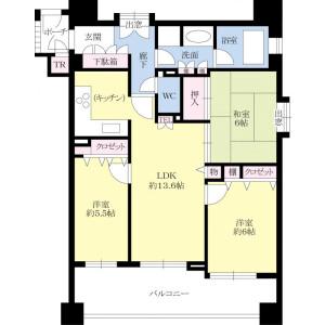 3LDK {building type} in Nishimiyahara - Osaka-shi Yodogawa-ku Floorplan