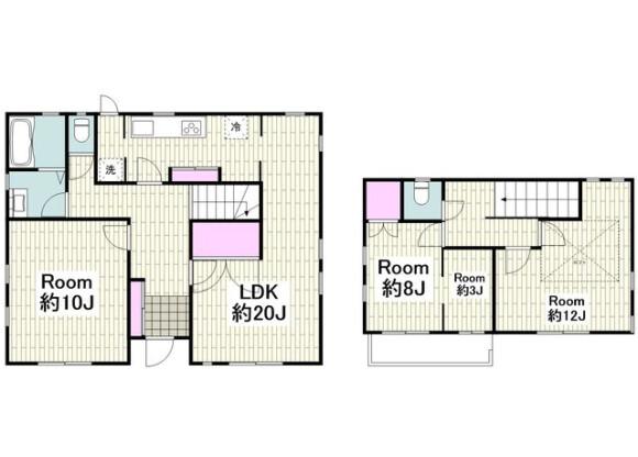 3LDK House to Rent in Yokohama-shi Kohoku-ku Floorplan