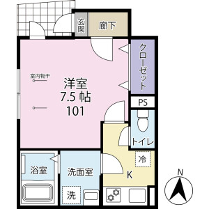 1K Apartment in Higashikoiwa - Edogawa-ku Floorplan