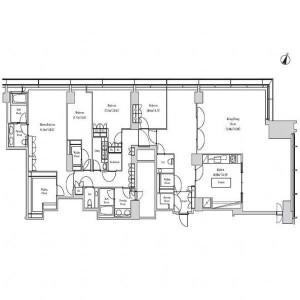 4LDK Apartment in Aobadai - Meguro-ku Floorplan
