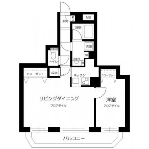 1LDK Mansion in Chihaya - Toshima-ku Floorplan