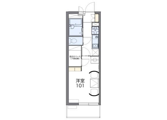 1K Apartment to Rent in Kyoto-shi Nishikyo-ku Floorplan