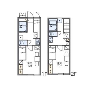 1K Apartment in Ueki - Kasuya-gun Sue-machi Floorplan