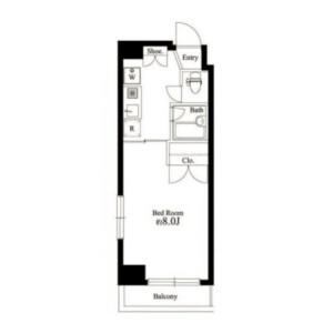 1K Mansion in Shinsencho - Shibuya-ku Floorplan