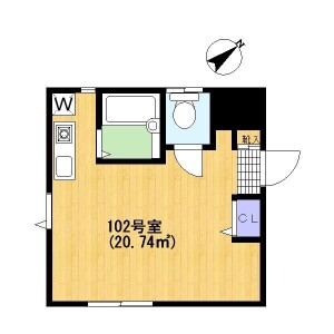 1R Apartment in Saginuma - Kawasaki-shi Miyamae-ku Floorplan