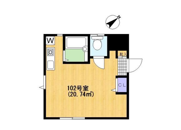 在川崎市宮前区內租賃1R 公寓 的房產 房間格局