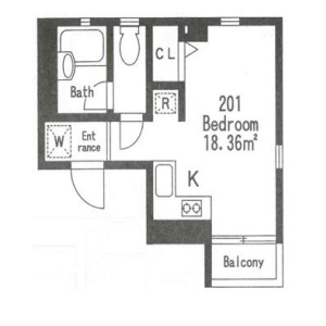 1R Mansion in Roppongi - Minato-ku Floorplan