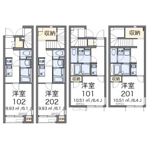 1K Apartment in Horinochi - Suginami-ku Floorplan