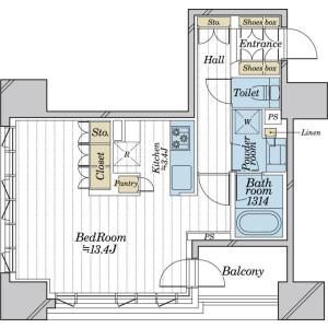 1K {building type} in Sotokanda - Chiyoda-ku Floorplan