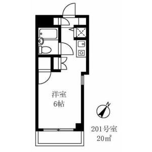 1R Mansion in Sangenjaya - Setagaya-ku Floorplan