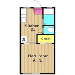 1K Apartment in Koenjikita - Suginami-ku Floorplan