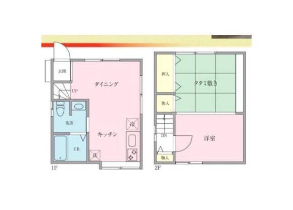 2DK House to Rent in Katsushika-ku Floorplan